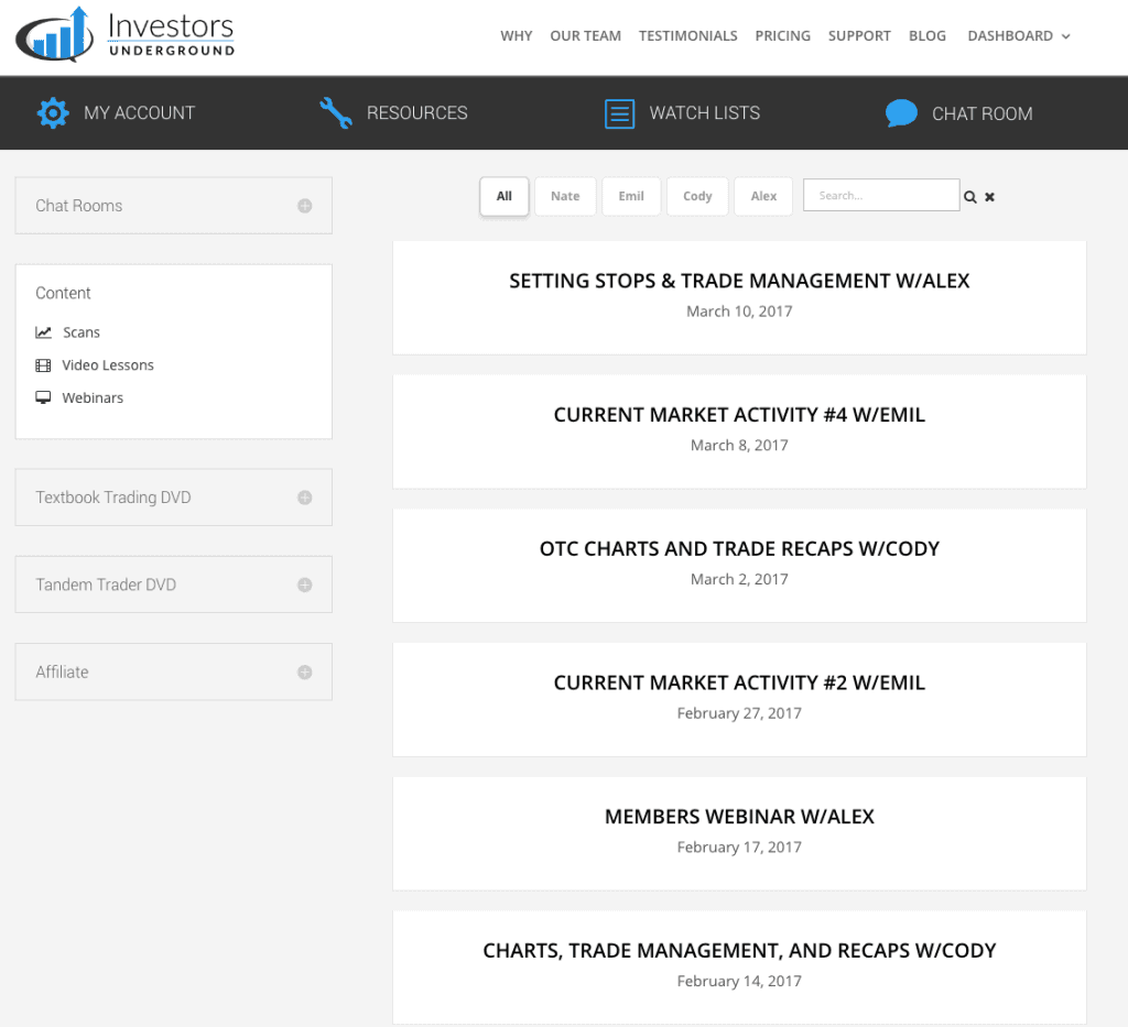 Investors Underground Webinars