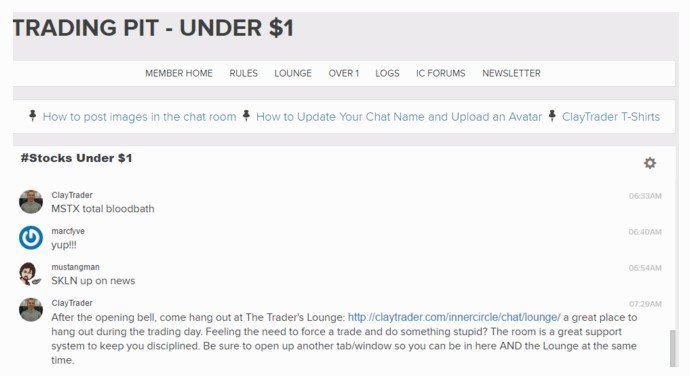 Clay Trader Chatroom