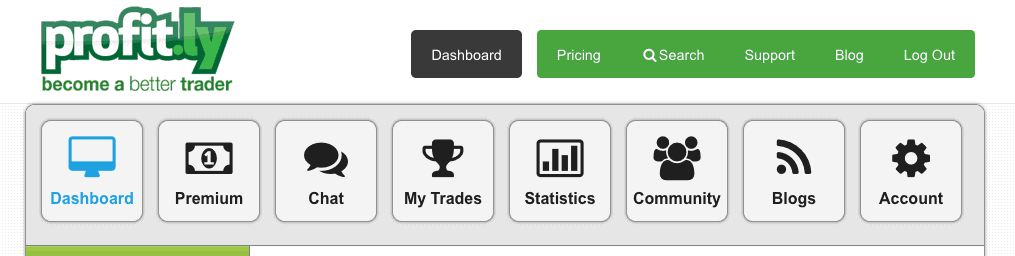 Profitly dashboard