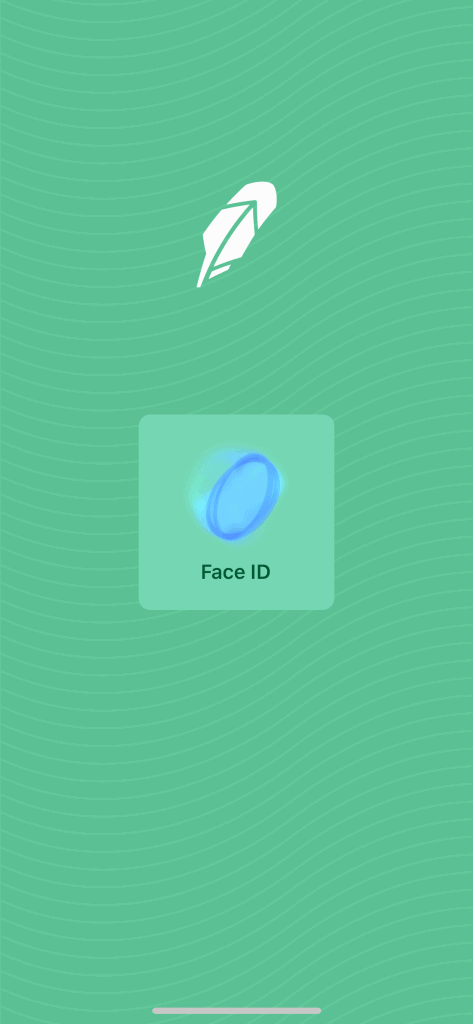 Robinhood Face ID