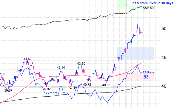 MarketSmith Chart Price Targets