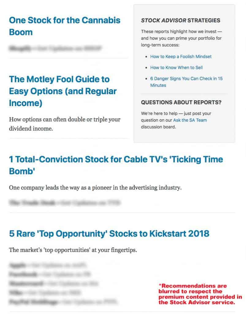 Stock gumshoe motley fool options