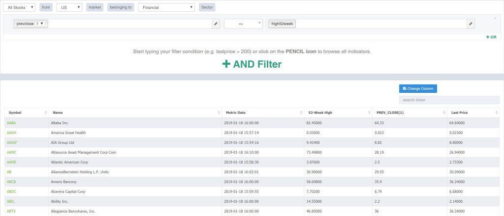 Investfly Screener
