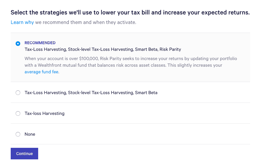 Wealthfront Tax Loss Harvesting