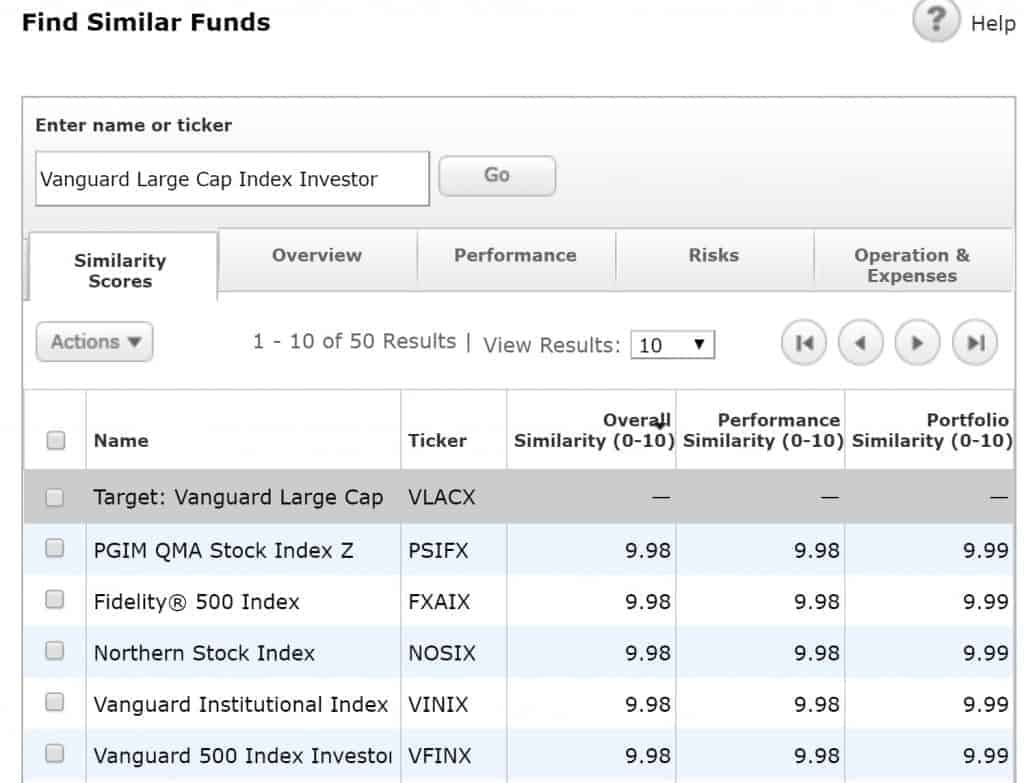 Morningstar Similar Funds