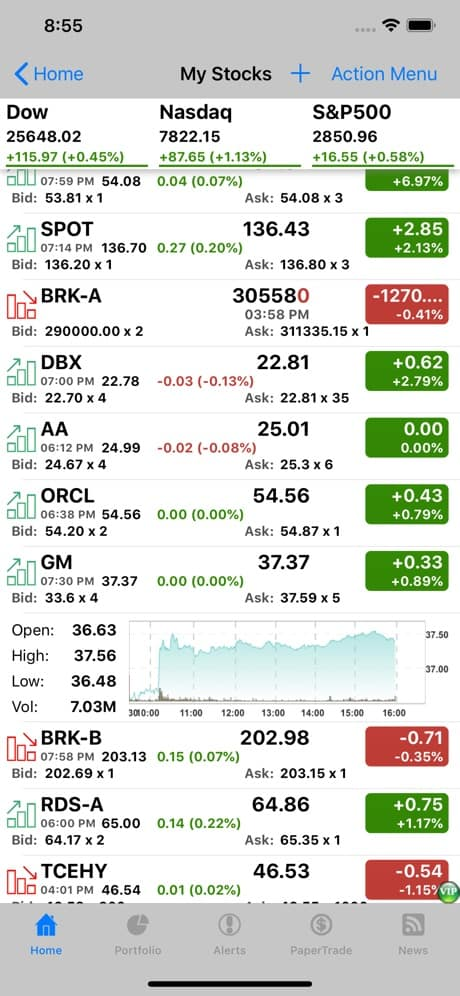 Stocks Tracker App