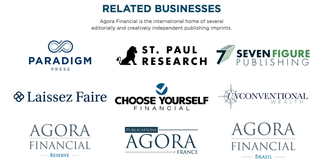 Agora Financial Businesses