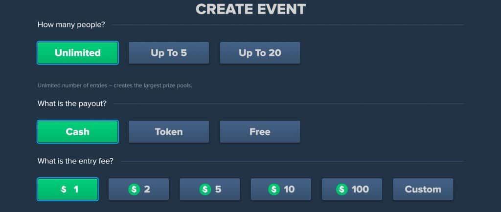 TradeOff Create Event