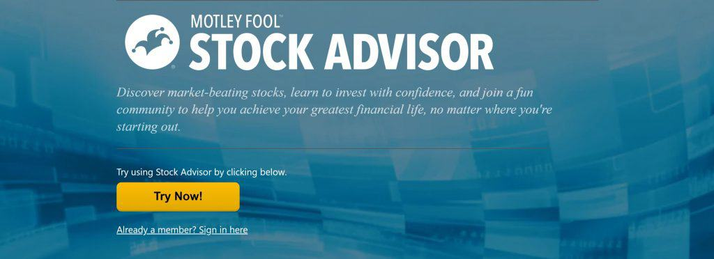 Motley Fool vs. Zacks - Stock Advisor Homepage