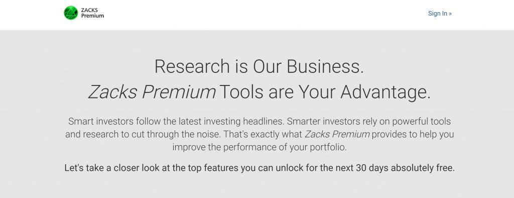 Motley Fool vs. Zacks - Zacks Homepage