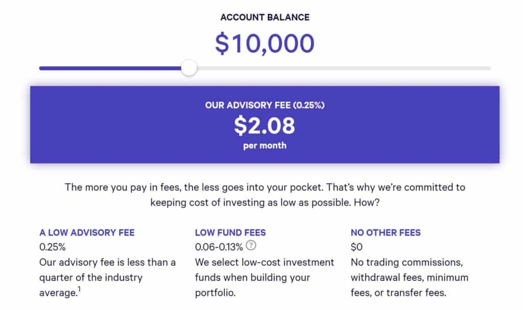 Betterment vs Wealthfront - Wealthfront Fees