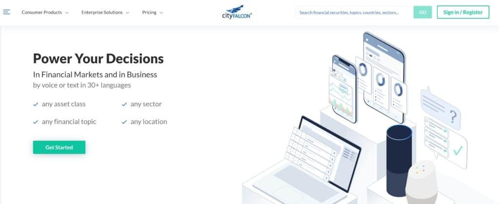 CityFalcon Homepage