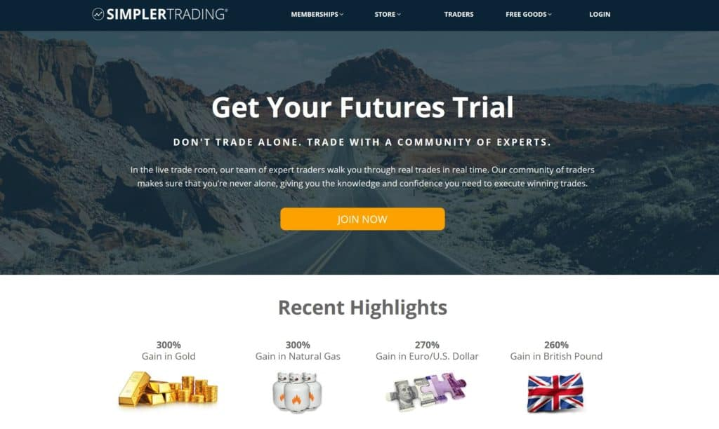 Simpler Futures Homepage