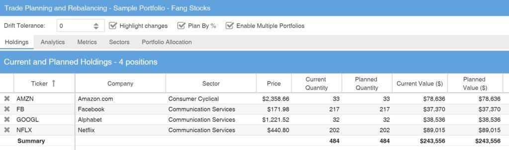 StockRover vs FinViz - StockRover Portfolio Rebalancing