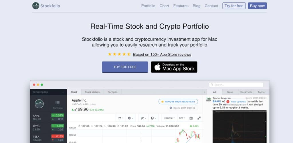 Stockfolio Homepage