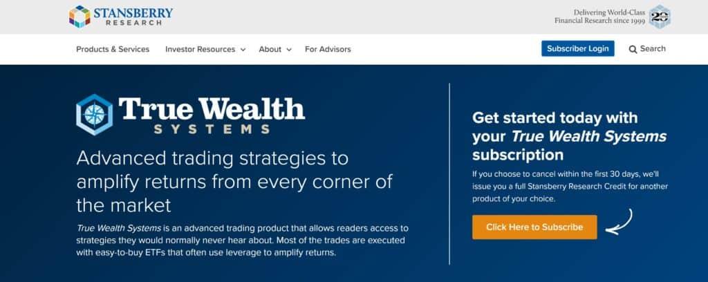 True Wealth Homepage
