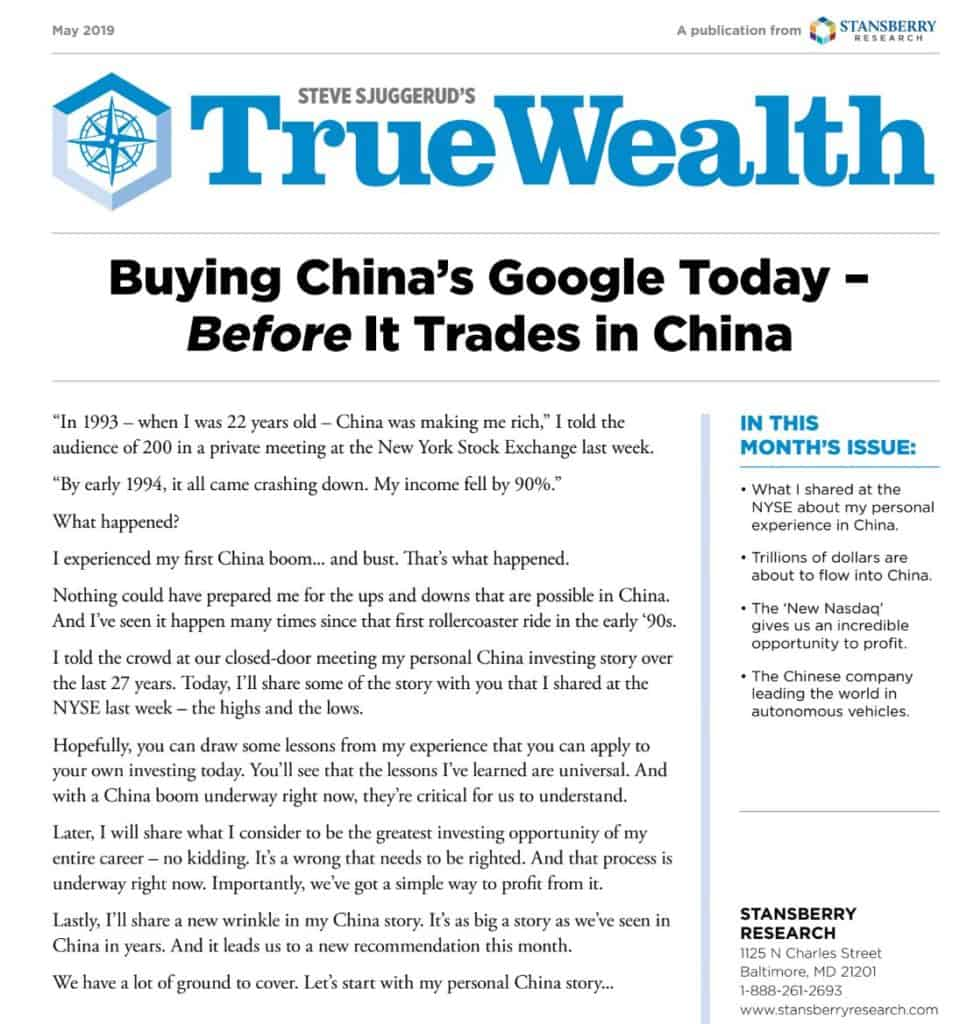 True Wealth Newsletter