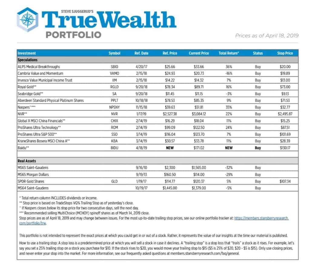 True Wealth Portfolio Example