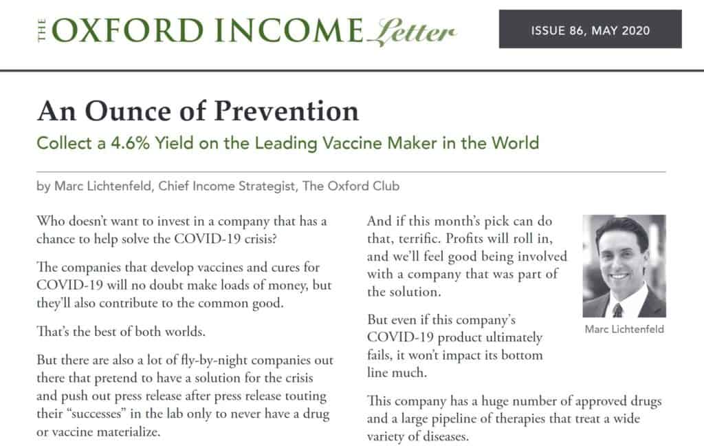 The Oxford Income Letter Newsletter