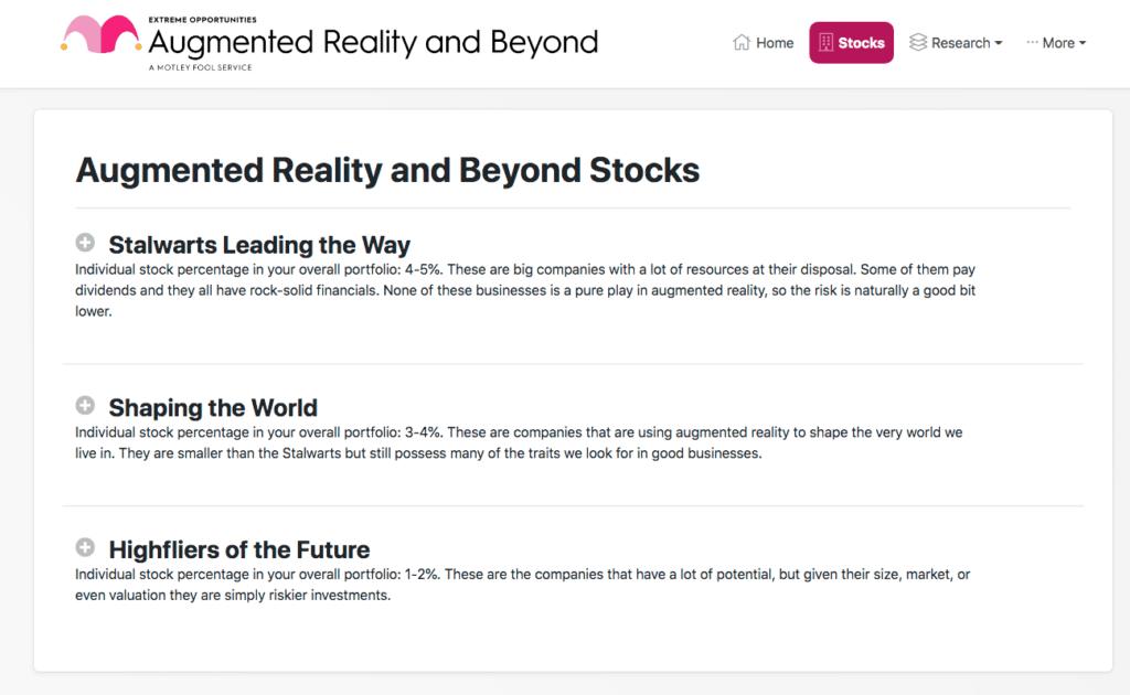 Augmented Reality Portfolio