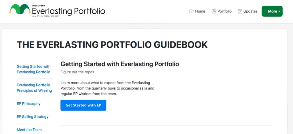 Everlasting Portfolio Guidebook