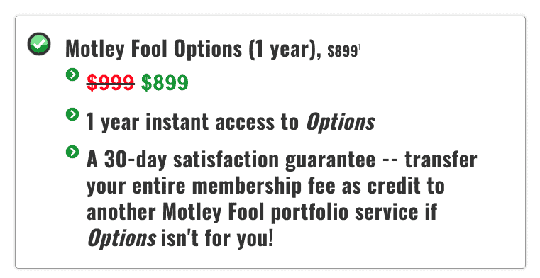 Motley Fool Options Pricing