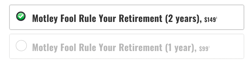 Motley Fool Rule Your Retirement Pricing