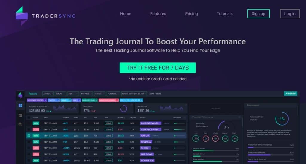 TraderSync Homepage