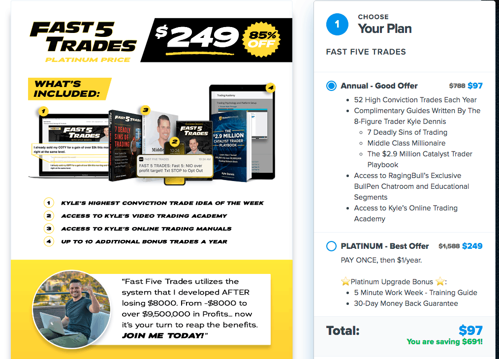 Fast Five Trading Checkout