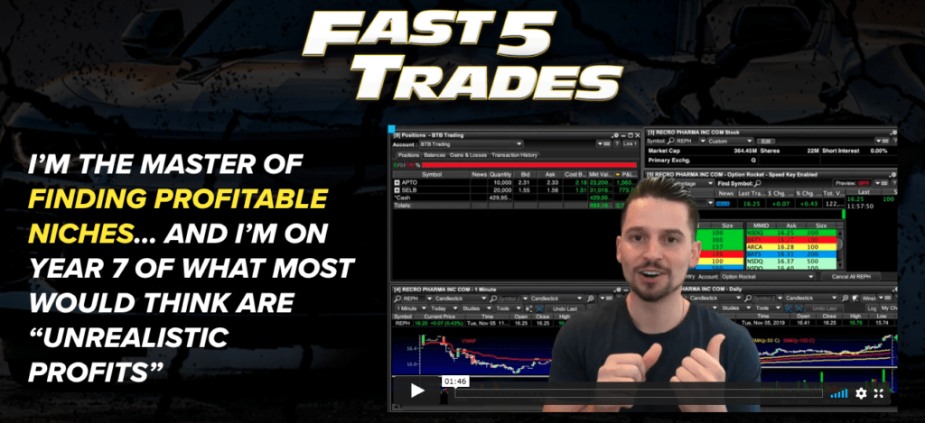 Fast Five Trading Website