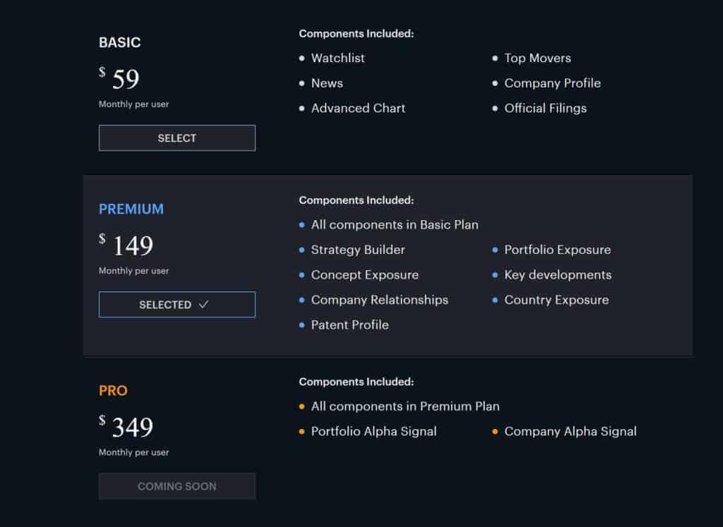 Yewno Edge - Pricing