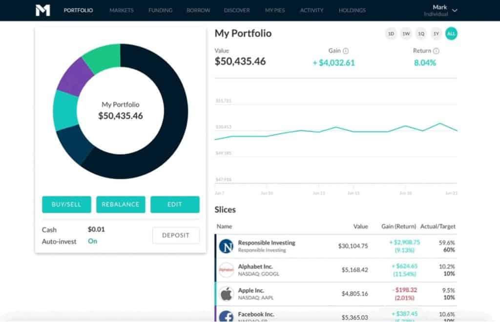 M1 Finance vs. Stash - M1 Finance Auto-investing