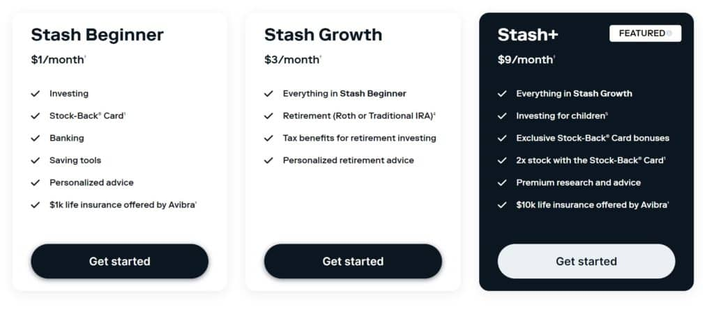 Stash vs. Robinhood - Stash Plans