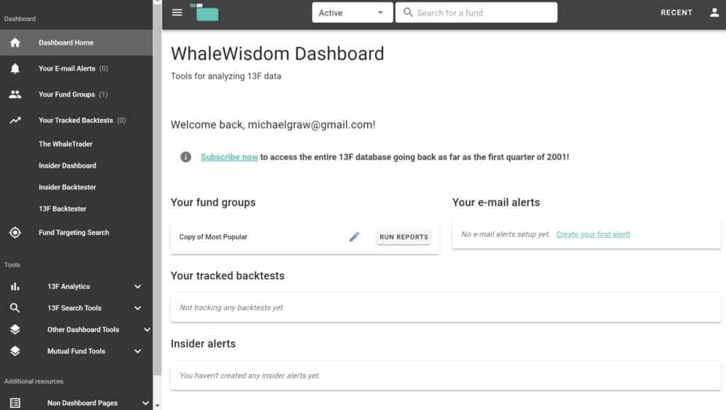 Panel de WhaleWisdom