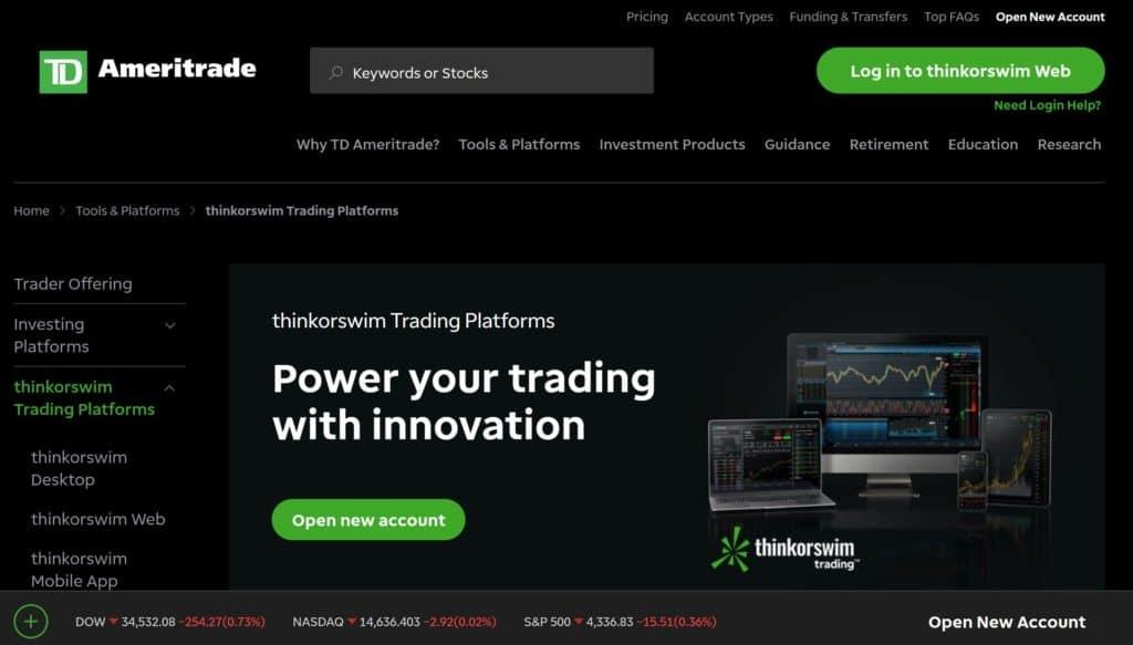 TradingView vs Thinkorswim - Thinkorswim Homepage